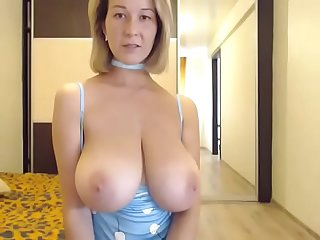 Hot woman lives showing huge tits