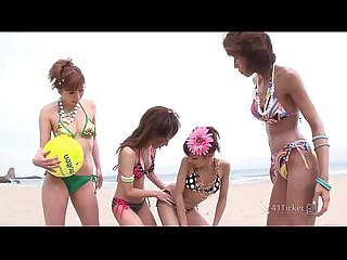 41Ticket - Four Japanese Volleyball Girls Have Wild Orgy (Uncensored JAV)