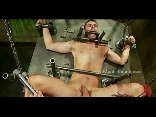 Sexy gay men in brutal bondage fuck
