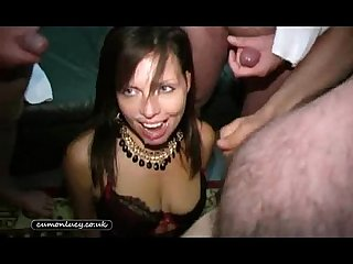Afuk lucy b bukkake british uk cum spunk facials amateur