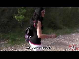 Bitch stop skinny dark haired tattooed hooker fucked outdoor