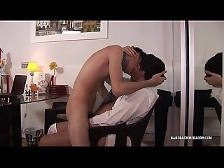 Dad and Son Latin Bareback Flip Fuck