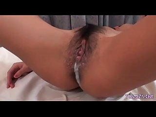 Busty Asian Girl Getting Her Hairy Pussy Fucked Creampie Stimulated With Vibrato