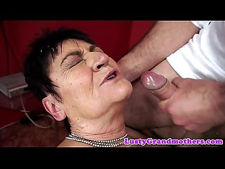 Mature lady facialized after sex