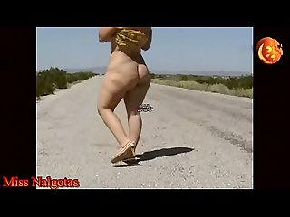 Exciting piss of chubby on the road 31 out 4