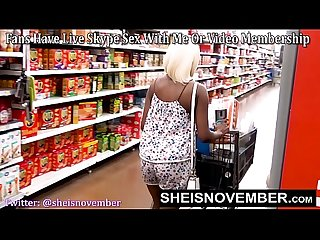 WalMart Public Blowjob Hot Big Tits Young Black Girl Sheisnovember