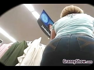 Grandma with a big ass doing some shopping