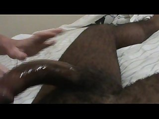 Red head with glasses deepthroats black dick