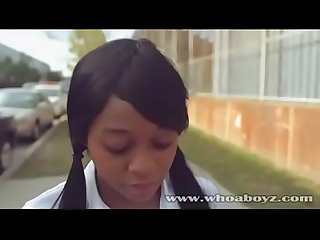 School girl Ebony Banks Hardcore