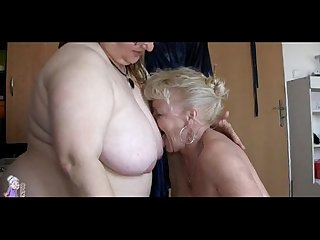 Two grannies and man have sex