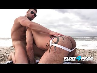 Killian & Crew - Flirt4Free - Ripped Hunks Bareback Hard on the Beach