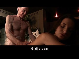 Grandpa big old cock fucking tight young pussy after 69 oral licking