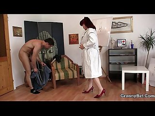 Horny lady jumps on fresh cock