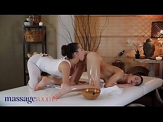 Massage Rooms Anastasia Brokelyn and Madison McQueen oil soaked lesbian sex