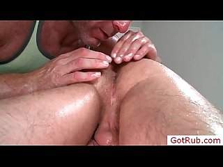 Dude gets hairy anus licked by gotrub