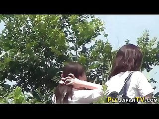Japanese students peeing