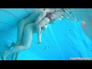 Swinger nudist couples underwater Sex spy cam