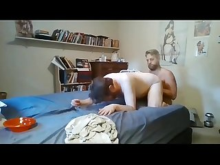 Daddy bear wrecks my tender hole with epic creampie