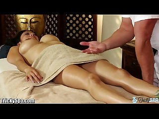 Trickyspa masseur cock massaged by asian deep throat