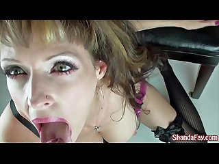 Canadian milf shanda gives blowjob to recent graduates