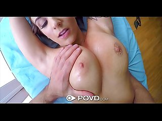 Povd stunning layla london big tits massage in pov