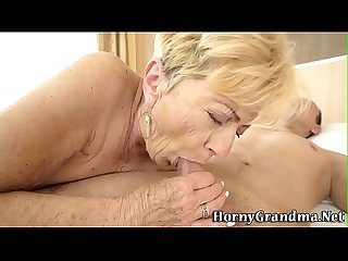 Grandmother gets creampie