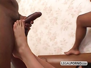 Two big black dicks fuck two sexy brunettes hc 4 04