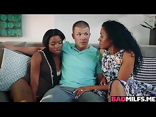 Black milf yasmine 3some with mya and bf