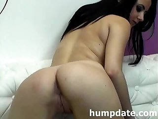 Busty girl fingering her pussy and teasing