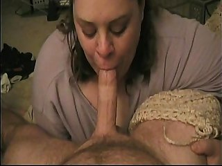 bet blowjob by chubby wife from BBWCurvy .com