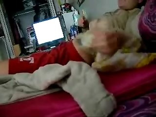 Watch my cute sister fingering on bed hidden cam