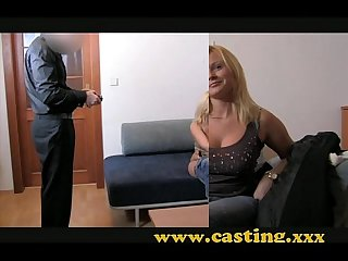 Casting chubby blonde takes it in the ass