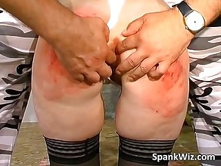 Brunette chick gets her ass spanked
