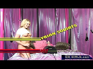 Squirting sybian orgasm from flower tucci