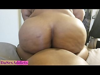 DaSexAddicts GOING AT IT BIG FAT EBONY ASS BOUNCES AND RIDES BLACK BBC HARD