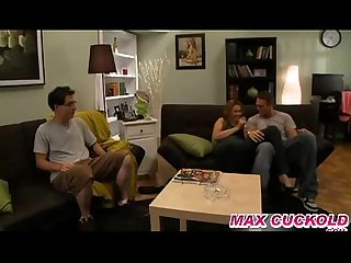 Maxcuckold com humiliated hubby watch his cuckold wife