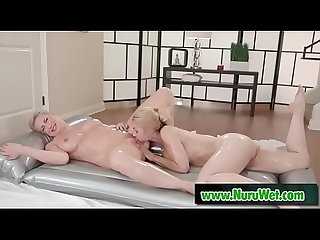 Sarah vandella ryan keely licking pussy covered in nuru gel