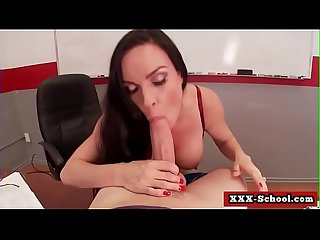 Big boobs fucked at school by student and teacher 13