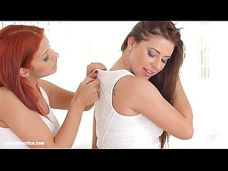 Sapphic Erotica presents Ally Breelsen and Aylin Diamond having lesbian sex