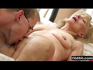 Hot grandma sex video