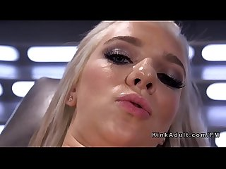 All wet solo blonde fucking machine