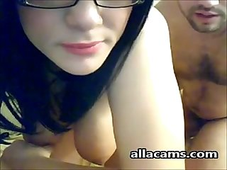 Brunette Couple having Sex in the room and recording