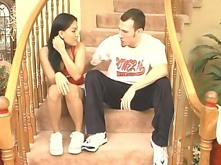 Amateur on the stairs