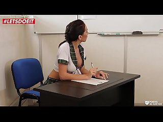 LETSDOEIT - Sexy SchoolGirl Fucked Hardcore By Her Teachers (Lola Bulgari)
