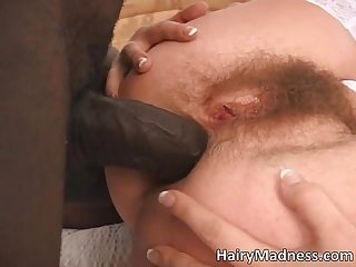 Hot dark haired slut takes massive fat