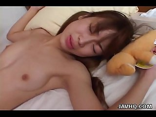 Tender japanese teen loves being fucked doggystyle