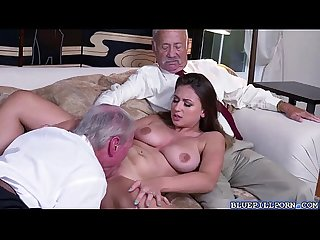 Gorgeous babe ivy rose strips and got fucked hard