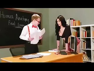 Busty shemale teacher gets ass fucked in class