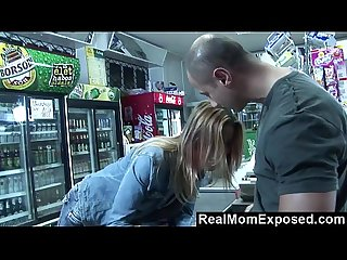 Realmomexposed she pays the cashier with a blowjob