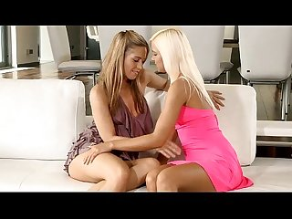 Cute hotties fondle on cam